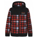 ICEPEAK HART JR NOIR CARREAUX ROUGE/BLANC