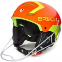 BRIKO SLALOM FLUO ORANGE YELLOW CASQUE