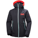 HELLY HANSEN W LOUISE JACKET GRAPHITE BLUE VESTE DE SKI