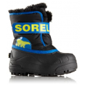 SOREL CHILDREN SNOW COMMANDER BLACK SUPERBLUE CHAUSSURES