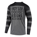 TROY LEE DESIGNS JERSEY SKYLINE L/S CHECKER HTH GRY/BLK 2018