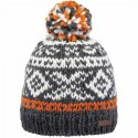BARTS LOG CABIN BEANIE KIDS ORANGE BONNET