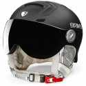 BRIKO AMBRA VISOR PHOTO PEARL BLACK CASQUE