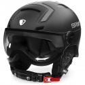 BRIKO STROMBOLI VISOR PHOTO MATT SHINY BLACK CASQUE