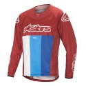 MAILLOT ALPINESTARS TECHSTAR ML ROUGE/BLANC/BLEU