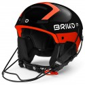 CASQUE BRIKO SLALOM - SH BLK ORANGE FLUO ADULT 2020