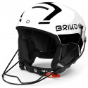 CASQUE BRIKO SLALOM - SHINY WHITE BLACK ADULT 2020