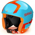 CASQUE BRIKO JR VULCANO FIS 6.8 - SH SKY BLUE ORANGE F 2020