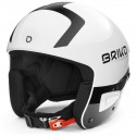 CASQUE BRIKO VULCANO FIS 6.8 - SHINY WHITE BLACK ADULT 2020