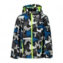CMP KID JACKET SNAPS HOOD NERO RIVER VESTE JUNIOR 2021