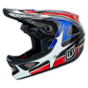 CASQUE TROY LEE DESIGNS D3 GWIN RED EDITION 2015